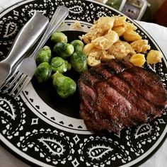First official #fathersday as a #family #lobstermacncheese #steak #brusselsprouts #homemade #yummy #imadeit