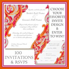 """""""Want to win 100 FREE invitations + RSVPs? Simply click here ☛ ow.ly/9l1jh for your chance to win """""""