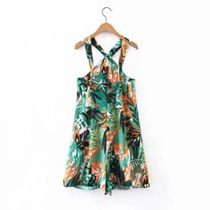 2017 summer jumpsuit casual printing rompers womens jumpsuit shorts women rompers halter sexy jumpsuit
