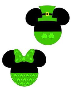 My Mickey and Minnie St Pattys Day Decirations