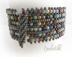 Druks in a Row Bracelet Pattern by Carole Ohl by openseed on Etsy