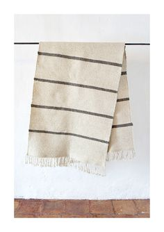 Image of Flat Weave Wool Rug in 'Rayas'