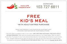 Kids Eat FREE at Chili's! Today ONLY (7/28/13)