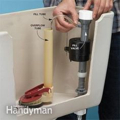 Get a stronger flush and lower the water bill. – Home Maintenance Leaking Toilet, Toilet Repair, Handyman Projects, Plumbing Problems, Home Fix, New Toilet, Toilet Bowl, Diy Home Repair, Home Repairs