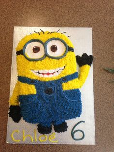 minion cake Penner Boyd or this one! Minion Birthday, Minion Party, Star Wars Birthday, Birthday Fun, Birthday Cakes, Birthday Ideas, Minion Cupcakes, Cupcake Cakes, Cakepops