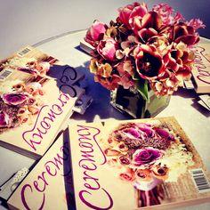 Display! #ceremonymagazine #flowers #fuschia #pretty #tulips #brides #hydrangeas #res #pink #green #roses #bridalshow