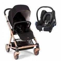 Mamas & Papas Urbo 2 + Cabriofix Car Seat - Signature Edition Black/Rose Gold
