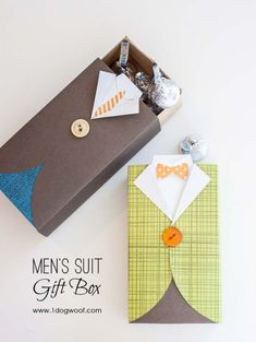 DIY Gifts For Men | Awesome Ideas for Your Boyfriend, Husband, Dad - Father , Brother and all the other important guys in your life. Cool Homemade DIY Crafts Men Will Truly Love to Receive for  Christmas, Birthdays, Anniversaries and Valentine's Day | Mens Suit Gift Box |  http://diyjoy.com/diy-gifts-for-men-pinterest