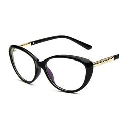 9953e97b8bff6 Chashma Women Cat Eyes Black Glasses Stylish Eyewear Eyeglasses Myopia  Spectacle Small Frame for Female Armações