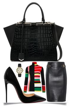 """Add Some Color"" by easy-dressing ❤ liked on Polyvore featuring Christian Louboutin, Kenzo, Fendi, Moschino and Kate Spade"