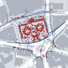 space syntax / pedestrian activity, trafalgar square, london Site Analysis Architecture, Movement Architecture, Architecture Mapping, Architecture Panel, Landscape Architecture Design, Urban Design Diagram, Urban Design Plan, Informations Design, Landscape Diagram