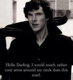 Hello Darling / British Hey Girl - Benedict Cumberbatch ( Sherlock )