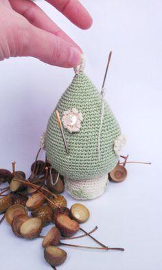 Mushroom Pincushion Crochet Mushroom by MilenaCrochet on Etsy, $5.00