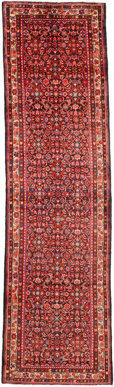 Navy Blue 3' 8 x 12' 10 Hossainabad Persian Rug