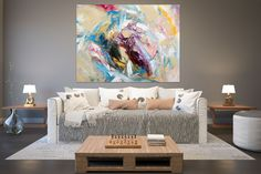 Large Abstract Painting,Modern abstract painting,painting colorful,modern wall canvas,large abstract art,textured paintings FY0014