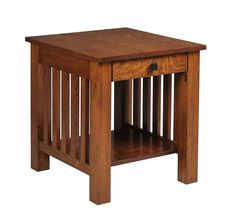 Amish South River Mission End Table Solid wood mission style beauty. Handy drawer compartment. Solid wood furniture made in Amish country.