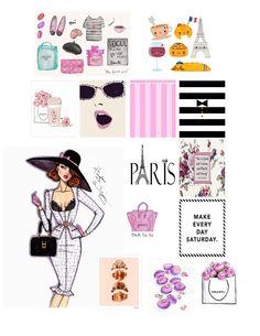 SUMMERKELLSEY: Paris Planner Stickers