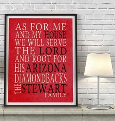 "Arizona Diamondbacks baseball Personalized Art Print- ""As for Me"" Parody-Unframed Print"