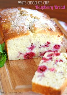 White Chocolate Chip Raspberry Bread - When fresh berries are in season I am constantly looking for more and more ways to use them.