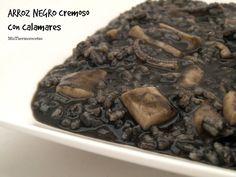 Arroz negro cremoso con calamares - MisThermorecetas