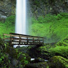 Elowah Falls, Columbia River Gorge, Oregon