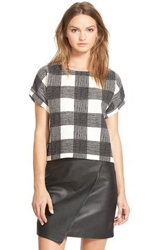 Madewell Grid Print Boatneck Tee available at #Nordstrom