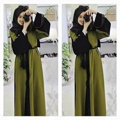 Order this Abaya and more designs from the Stores listed on the blog www.hijabfashioninspiration.com/elegant-abayas