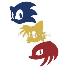 """Sonic, Tails & Knuckles"" Stickers by Photosmagoria 