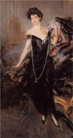 """Portrait of Donna Franca Florio"", completed 1924, by Giovanni Boldini (Italian, 1842-1932)."