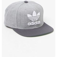 adidas Thrasher Chain Heather Grey Snapback Hat ❤ liked on Polyvore  featuring accessories e5b729291c97