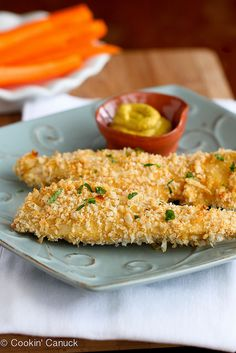 Crispy Baked Parmesan-Crusted Chicken Tenders Recipe   cookincanuck.com #chicken by CookinCanuck,