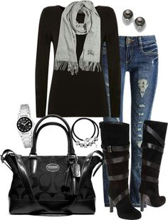 Cute winter outfit, just with different boots