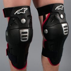 Alpinestars Bionic MX Knee Guards Black-Red