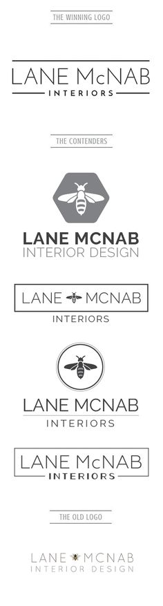 Lane McNab is an established Interior Design Firm who was in need for a Logo re-vamp. After playing around with a graphic bumble bee icon we decided to take a more sleek/modern typographical approach. With a simple yet sophisticated logo like this, she won't need another re-vamp for many years to come. Check out more of our work at www.artsygeek.com/portfolio