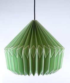 Green folded origami lampshade from Dowsing & Reynolds