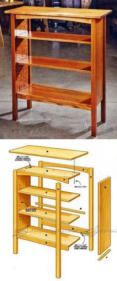 Simple Bookcase Plans - Furniture Plans and Projects   WoodArchivist.com