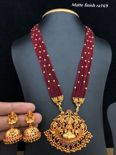 Temple Jewellery available at Ankh Jewellery For booking WhatsApp on Gold Earrings Designs, Gold Jewellery Design, Bead Jewellery, Temple Jewellery, Necklace Designs, Beaded Jewelry, Gold Jewelry, Jewelry Rings, Gold Designs