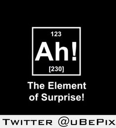 The element of suprise