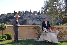 An intimate elopement at the Hotel Bastide de Gordes. France. Photo by Cherry Thatcher.