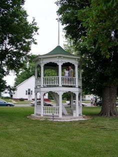I want to turn my wood dollhouse gazebo into a 2-story quarter scale doll or fairy house. I saw this photo of a life size 2-story gazebo and had to pin it as it is similar to what I want to make. Looking at this, I could also create a 2-story gazebo house by possibly attaching two gazebos together. First I would cut an opening in the floor of the upper level, so it could be accessed by either stairs or a ladder. I like this idea, it would be a unique style house for the little people…