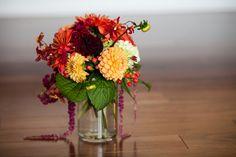 A fall color palette.  www.sassafrasflowers.com