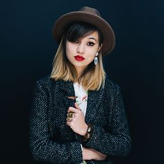 hat clad portrait by SAINT LUCY Represents photographer Anastasiia Sapon