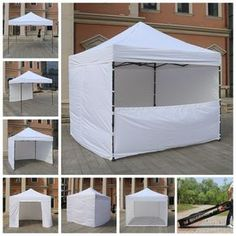 AbcCanopy 10x10 Commercial Ez Pop Up Tent Canopy Gazebo Market Trade Show Booth & Quictent WATERPROOF 10 X 10 EZ POP SET UP CANOPY TENT GAZEBO W/ 4 ...