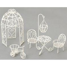 Take Your Pick! The Top 50 Mini-Fairy Garden Furniture Design Ideas Garden Furniture Design, Fairy Garden Furniture, Diy Garden Decor, Furniture Projects, Wood Furniture, Royal Furniture, Furniture Websites, Furniture Movers, Furniture Companies
