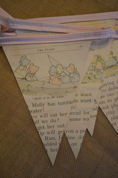 Book page baby bunting