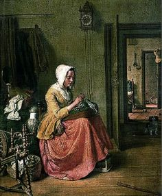 18th-century Women's Work by Dutch artist Wybrand Hendriks 1744-1831
