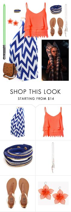 """Ahsoka Tano - Star Wars - Closet Cosplay"" by ginger-rogers ❤ liked on Polyvore featuring Tano, Glamorous, Topshop, Billabong, Dsquared2 and Konstantino"