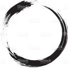 Enso-circulaire coup de pinceau de calligraphie japonaise cercle Zen (n ° 1 stock vecteur libres de droits libre de droits