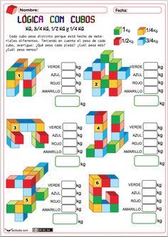 Con la siguiente ficha buscamos reforzar el aprendizaje de la suma de fracciones de cuartos, medios y tres cuartos, muy usuales en las medidas de masa, longitud y capacidad. Para ello hemos montado una actividad en la que se les pide al alumnado que averigüen el peso de varias piezas … Measurement Activities, Math Games, Math Exercises, School Jobs, Math Formulas, Basic Math, Math Numbers, Math Concepts, Homeschool Math