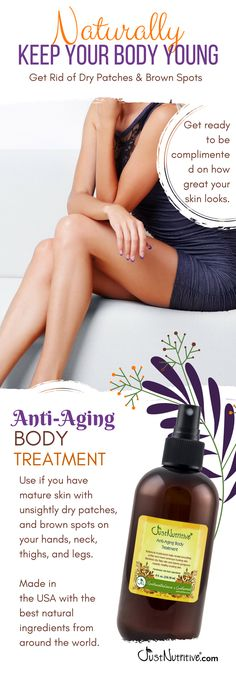 Anti-Aging Body Treatment. Enhance the color and tone of your skin, hide cellulite and stretch marks while you keep dry patches at bay.